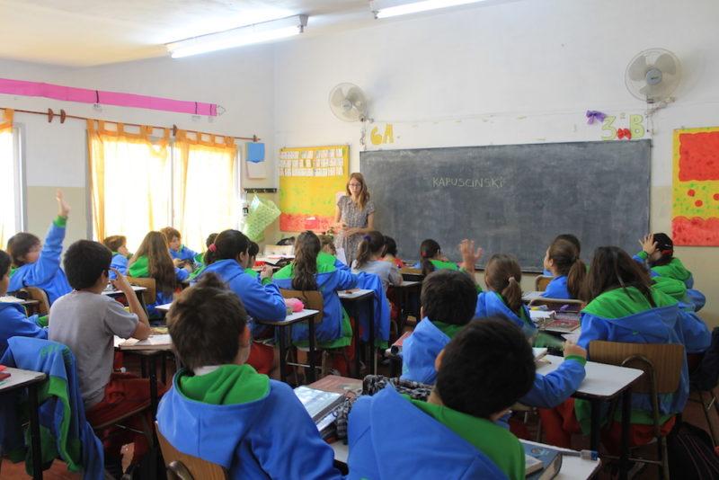 Charla en una escuela de Tigre, Buenos Aires